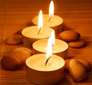 lit candles for lent